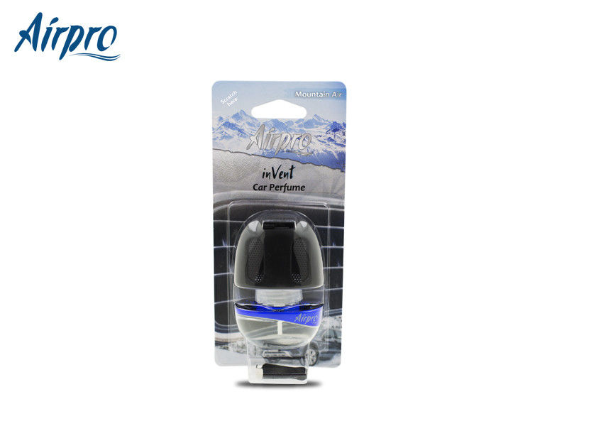 Mountain Air Smell Luxury Car Perfume Blue Color ABS / Glass Bottle Material